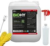 BiOHY WC-Reiniger-Set 10 Liter Kanister + Zubehör | WC-Reiniger | Auslaufhahn | Dosierer | Mischbehälter | Handschuhe | Ökologisches Reinigungsmittel für nachhaltiges Reinigen